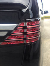 JDM COLIN Toyota Alphard Full LED tail lamps with matchin color chrome plate