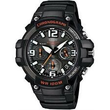 Casio MCW100H-1AV Men's Heavy Duty Chrono Analog Stainless Steel w/ Silicon Band