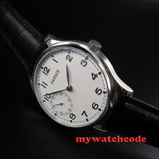 44mm parnis white dial seagull 3600 hand winding 6497 mens wrist watch P516