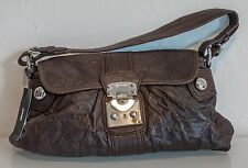 DKNY  ladies leather with silver details shoulder bag BROWN