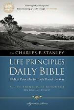 Charles F. Stanley Life Principles Daily Bible, NKJV (Signature Series),