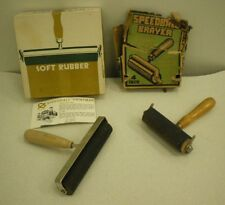 Vintage Photo Printmasters Speedball Soft Rubber Brayer Tool and Box Lot of 2