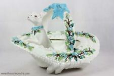 ANTIQUE MINTON DOG IN HAT FLOWER BASKET VICTORIAN PORCELAIN DISPLAY C.1860+