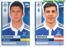 DYN8-9 DRAGOVIC KHACHERIDI FC DYNAMO KYIV STICKER CHAMPIONS LEAGUE 2017 TOPPS