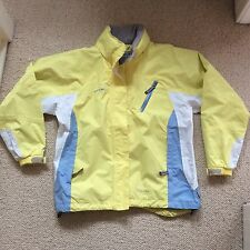 Trespass Yellow Breathable Waterproof Windproof Jacket Mac Size L