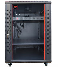 "18U 24"" Deep Wall Mount IT Network Server Rack Cabinet Enclosure. Accessories!"