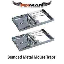 2x REUSEABLE METAL MOUSE TRAPS Bait Mice Vermin Rodent Pest Control Mouse traps