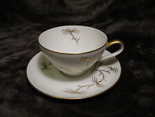 ROSENTHAL FINE CHINA PATTERN GOLDEN PALM CUP AND SAUCER