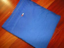 TOMMY HILFIGER BLUE SOLID QUEEN FLAT SHEET 100% COTTON BOYS