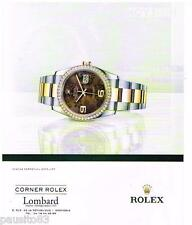 PUBLICITE ADVERTISING 105 2012  ROLEX  montre  OYSTER PERPETUAL DATE JUST