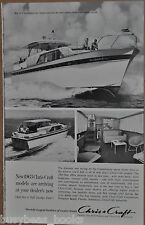 1962 CHRIS-CRAFT advertisement, Chris Craft 52ft Constellation cabin cruiser