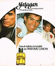 PUBLICITE ADVERTISING 084  1975  CARON   parfum homme YATAGAN             290814