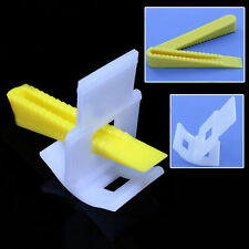 Tile Leveling System Spacers Pro Level Floor Wall Tool 50 Clips + 50 Wedges New