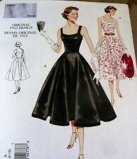 1950s VOGUE VINTAGE MODEL DRESS SEWING PATTERN 6-8-10 UC