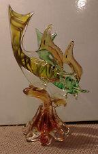 Glasfigur 2 Fische auf Sockel Murano? 31,5 cm hoch  1,7 kg schwer