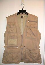 Authentic Made in Kenya Safari Photographer's Cargo Vest Khaki Tan Beige Sz XXL