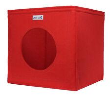 Katzenkorb Katzenbett Katzenhöhle Bett Filz rot p. für Ikea Expedit Kallax Cat