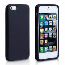 SOFT FLEXIBLE SILICONE GEL RUBBER SKIN BACK CASE COVER FOR APPLE IPHONE 5 5S