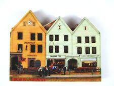 Bergen Häuser 3 D Holz Souvenir Deluxe Magnet Norwegen Norway Neu