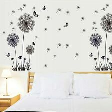 60x90cm Dandelion Fly Mural Removable Decal Room Wall Sticker Home Decor Vinyl