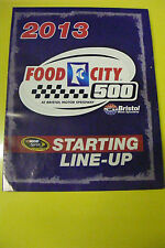 2013 FOOD CITY 500 MARCH 17 STARTING LINE-UP EC