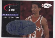 2000 SAGE BASKETBALL GEE GERVIN AUTHENTIC AUTOGRAPH CARD /999