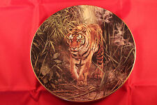 ROYAL DOULTON LORD OF THE JUNGLE WILLEM DE BEER WILD TIGER COLLECTION PLATE 1998
