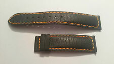 Original TISSOT Leather strap gray with yellow stitching 19mm...