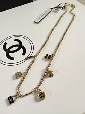 12A CHANEL CLASSIC GOLD 6 CHARMS CHOKER NECKLACE