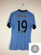 Manchester City REKIK #19 14/15 *PLAYER ISSUED* Home Football Shirt (M) Nike
