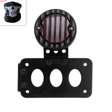 Tail Brake Light License Plate Bracket Side Mount Mask For Bobber Chopper Harley