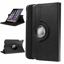 360-degree Swivel Leather Case Stand Cover Compatible with iPad Mini 1 2 3 Black