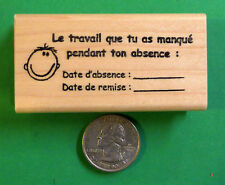 """""""Make-Up Work"""" - French Teacher's Rubber Stamp"""