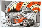 'Berlin Burnout' Signed Silkscreen Print by Max Grundy 1934 Ford Coupe Hot Rod