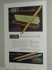1948 Norma Mechanical Pencil advertisement, NORMA Multi-Color pencils