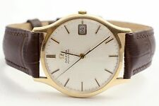 Vintage Omega 9ct Solid Gold Classic Date Watch 9k Cal 565 1971