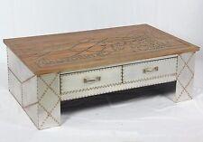 Vintage Industrie Design Couchtisch mit Schubladen retro Tisch Beistelltisch 505