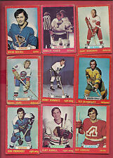 18 X 1973-74 OPC NATIONAL HOCKEY LIGUE RED BORDER CARD