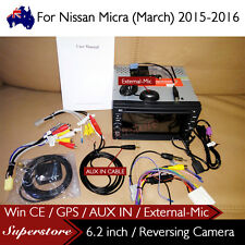 "6.2"" Nav Car DVD GPS For Nissan Micra (March) 2015-2016 with AUX IN External-MIC"