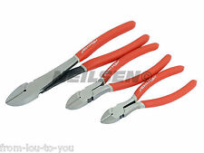 "3 Piece Side Cutter  / Snips / Pliers Wire Cutters Set Sizes  6 "" 8 "" 10 """