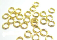 100 GOLD PLATED OPEN JUMP RINGS 5 MM 22 KT GP