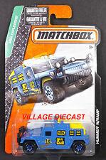 2015 Matchbox #109 (AM General) Hummer® w/Ramp BLUE/MOC