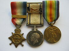WWI Mons Star trio MINIATURES to 5181 Pte D Ross Scots Guards