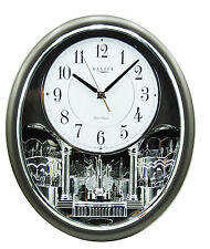 NEW MUSIC PENDULUM WALL CLOCK 12 MELODIES SEIKO SILENT MOVEMENT A008 -2.0k