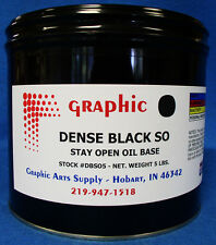 DENSE BLACK OFFSET INK - FAST SETTING STAY OPEN OIL BASE 5 LB. MADE IN THE USA
