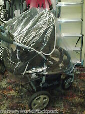 PVC RAINCOVER RAIN HAUCK ROADSTER DUO TWIN PUSHCHAIR BUGGY £15.99 FREE POSTAGE
