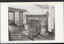 America Postcard - Kitchen in Lean-To, Farmington Museum, Conn   EE244