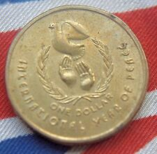 1986 Australia Dollar International Year of Peace HIGH GRADE COIN