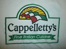 CAPPELLETTYS FINE ITALIAN CUISINE T SHIRT Restaurant Italy Flag Food Name vtg XL