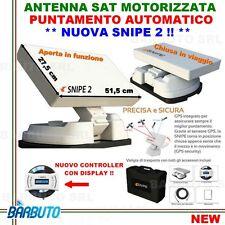 ANTENNA PARABOLA AUTOMATICA MOTORIZZATA SAT X CAMPER,BARCA-NUOVA SELFSAT SNIPE 2